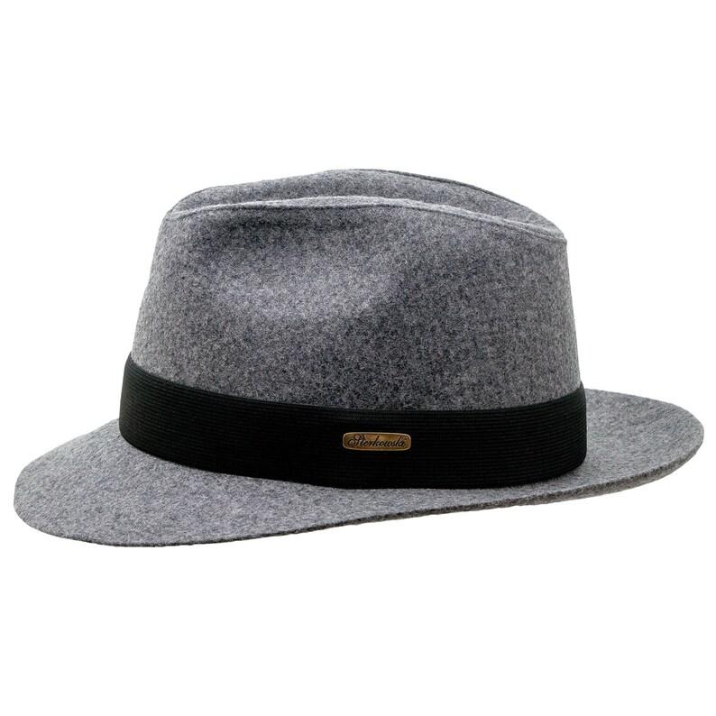 7ec9fed3e CORLEONE - Fedora Wide Brim Classic Wool Cloth Hat Jazz Vintage Boho  Mobster Gangster Crown Dressy Trilby Formal Fashion Wide Large Brim Hat