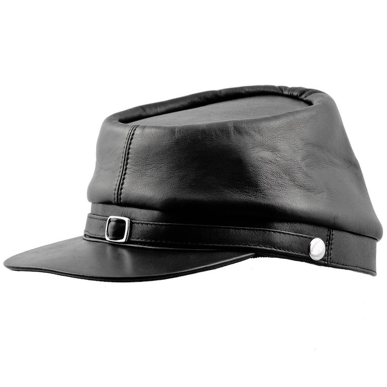 BUFFALO gorra quepis de guerra civil estadounidense de cuero  2a3dd9e12c0
