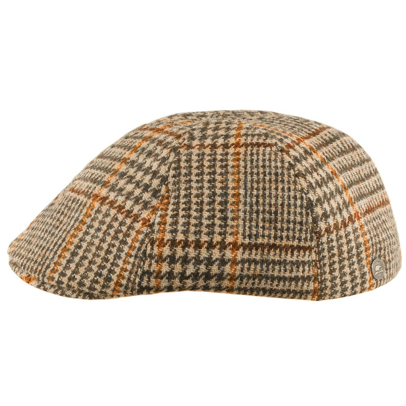 01b7d3ab3bbb6 RUSTY Duckbill Harris Tweed Flat Cap Cabbie Mens Ivy League