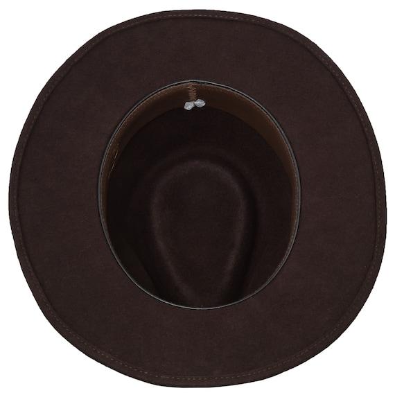 Sterkowski JAZZPANA Wool Trilby Hat Jazz Narrow Brim Fedora Vintage Casual
