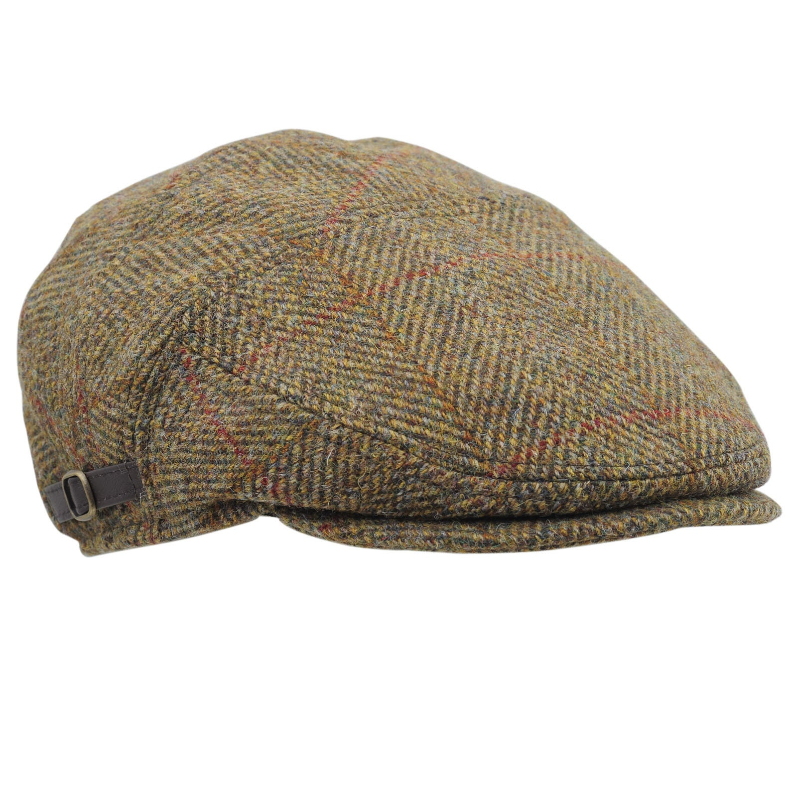 366c606282d17 ABERDEEN Genuine Scottish Harris Tweed Pure Wool Flat Cap