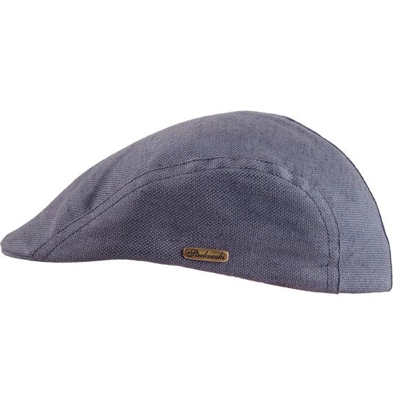 GECKO gorra plana de verano de lino y algodón gris  b0bafc6e98c