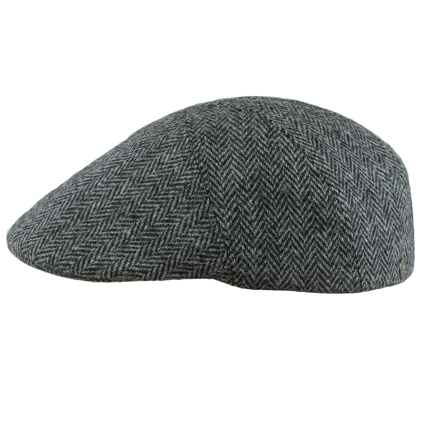 4d2248f51e0 IVY FIVE Harris Tweed flat cap with warm quilted padded