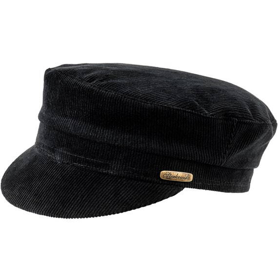 2627de3e2b5 FIDDLER Jewish Tevia Corduroy 100% Cotton Peaked Cap Sailor