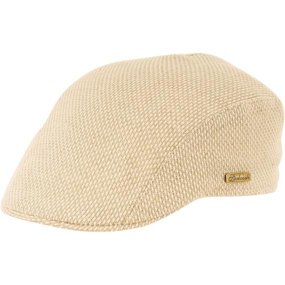 GECKO gorra plana inglesa de verano de lino beige  c9f00f11dfd