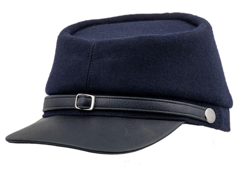 BLUE AND GRAY gorra quepis de guerra de secesión de lana con  5e30119388c