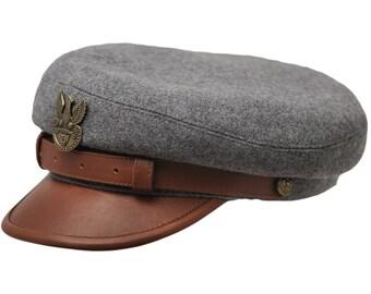 LEGION MACIEJOWKA REPLICA - Polish Legions (Jozef Pilsudski) historical cap with lining. All sizes - grey / brown