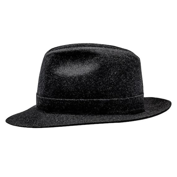 CORLEONE Fedora Wide Brim Classic Wool Cloth Hat Jazz  a3cbc375c3f