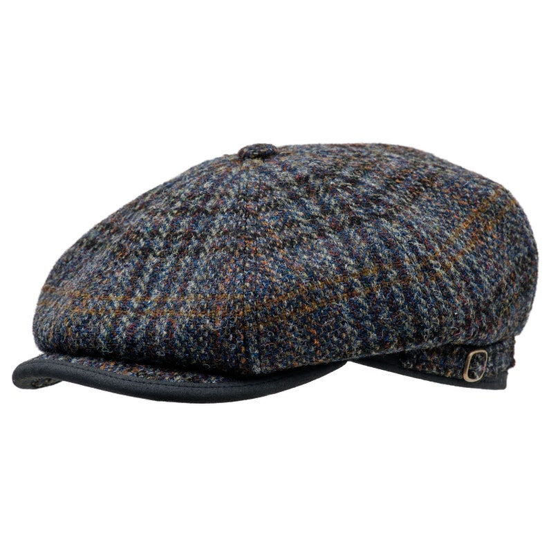 d1357d86eb MALONE Genuine Scottish Harris Tweed Pure Wool Gatsby Cap Baker Boy Newsboy  Applejack Paper Poor Boy Ivy League 8 Panels Gangster Irish Hat