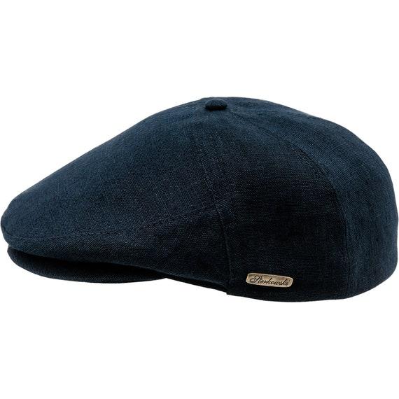 SWEDE gorra visera de verano de lino azul marino oscuro  d9dad8937f4