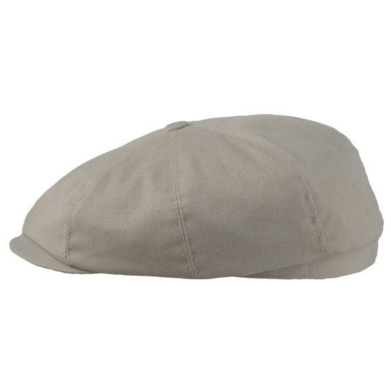 BIG APPLE GREY 8 PANEL VINTAGE SHAPE CAP HARRIS TWEED WOOL NEWSBOY BAKER BOY HAT