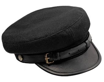 LEGION MACIEJOWKA - Polish Legions (Jozef Pilsudski) historical replica, fiddler style cap. Large sizes - black