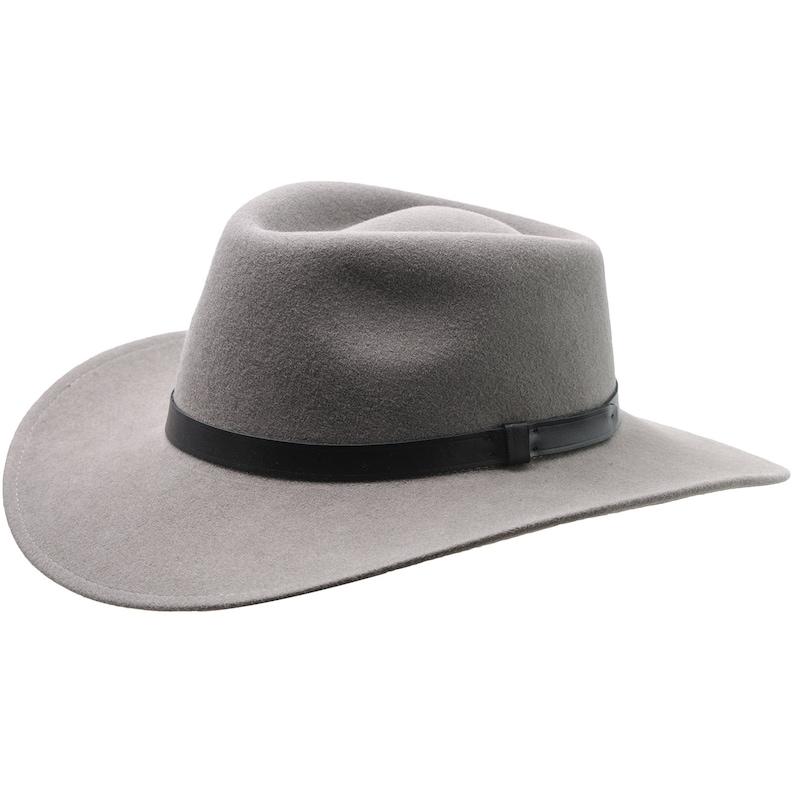 6ea25472aa0 SHARPS Wool Felt Teardrop Top Large Brim Fedora Hat Classic