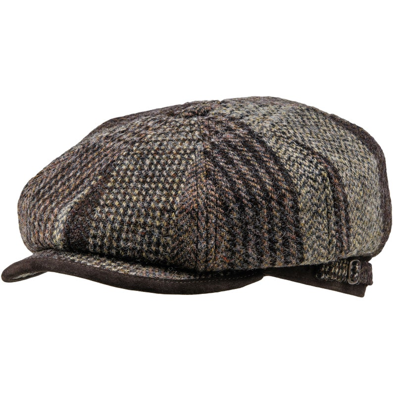 039e6c72d8d9a MALONE Genuine Scottish Harris Tweed Pure Wool Gatsby Baker