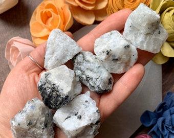 Raw Rainbow Moonstone Specimen // Loose Rainbow Moonstone Crystal Healing Gemstone Specimen //  Raw Rainbow Moonstone Crystal