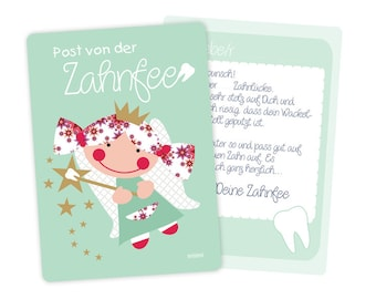 Tooth fairy tooth fee letter green or pink millimi