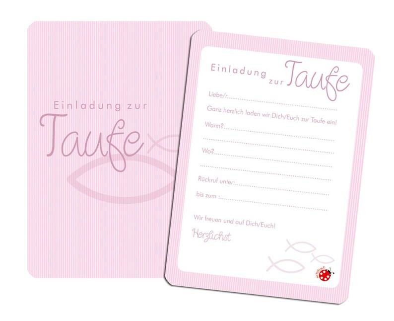 Einladungskarten Taufe Rosa Umschlag Mädchen Etsy
