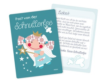 Pacifier Fairy Letter Blue or Pink Millimi
