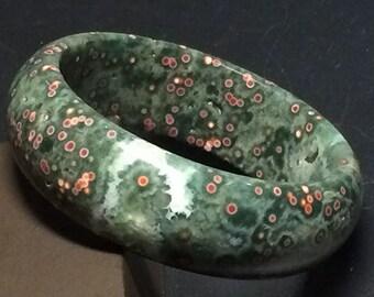 Genuine Ocean Jasper Bangle, Natural Ocean Jasper Bracelet, Ocean Jasper Bangles Gemstones Jewelry