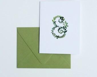 Spring Ampersand Card