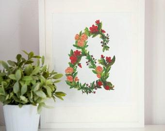 "Ampersand - Summer Flowers, Art Print - 8.5"" x 11"""