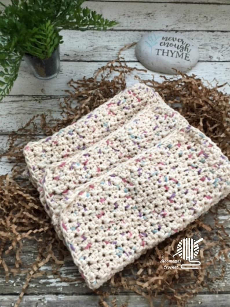 Handmade Dishcloths Cotton Dish Cloths KitchenWashcloths Wash image 0