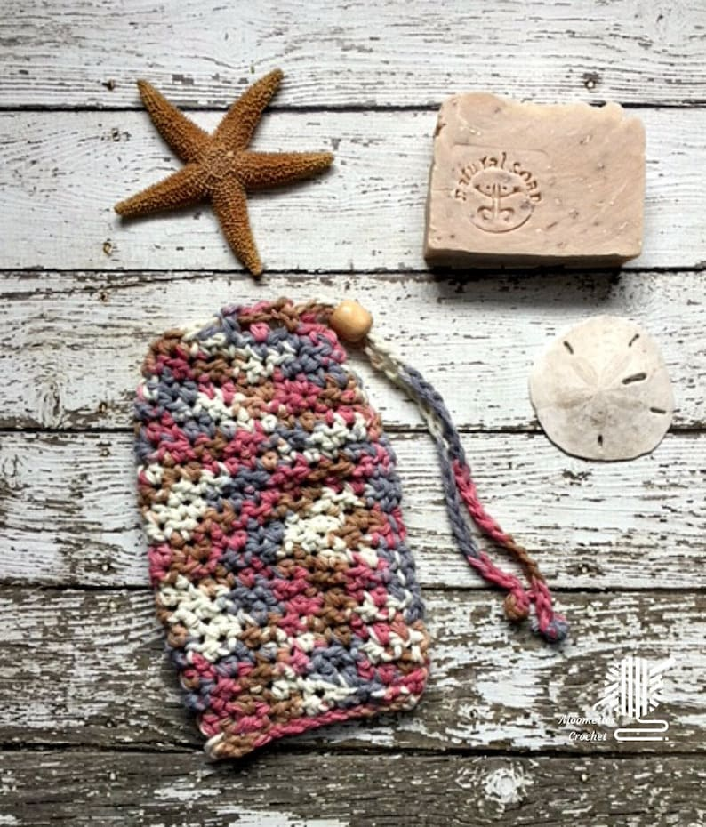 Cotton Soap Bag Hanging Drawstring Soap Saver Sack Rose Gray image 0