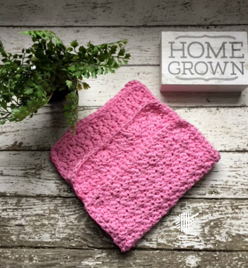 Cotton Dish Cloths 3 Pack Pink Wash/Dish Cloths Eco Friendly image 0