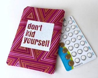 Pill Cozy Pill Case Birth Control Birth Control Pill Case Case for Birth Control Pills Funny Birth Control Sleeve Eggs