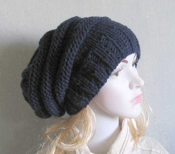 Mens knit hat guys slouchy beanie custom made in any colour.  e456e5f96da8
