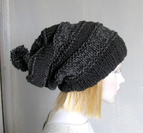 Mens Beanie Hat Black Hat Mens Slouchy Beanie Mens Hat Mans  7ccf26e3e01