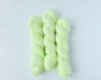 neone yellow//pink Ice Yarns Ralph Mohair yarn 380 yds ea mixed lot of 2