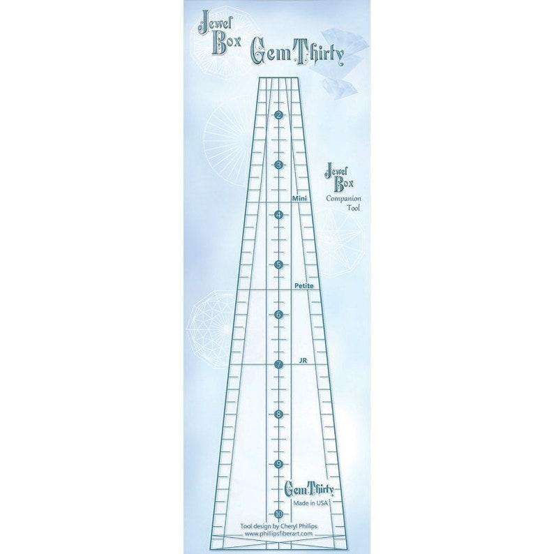 Cheryl Phillips Wedge Ruler Bonus Pattern Table Topper Tree Skirt Circles Phillips Fiber Art JEWEL BOX GEM 30 Companion Template Tool