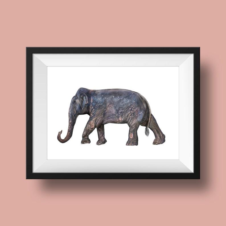 Asian Elephant Print Proceeds Donated Asian Wall Decor Save image 0