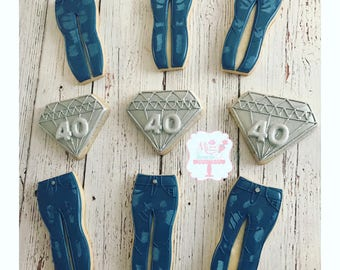 b37ec6882ff Denim and Diamond Sugar Cookies Denim and Diamond Party Denim and Diamond