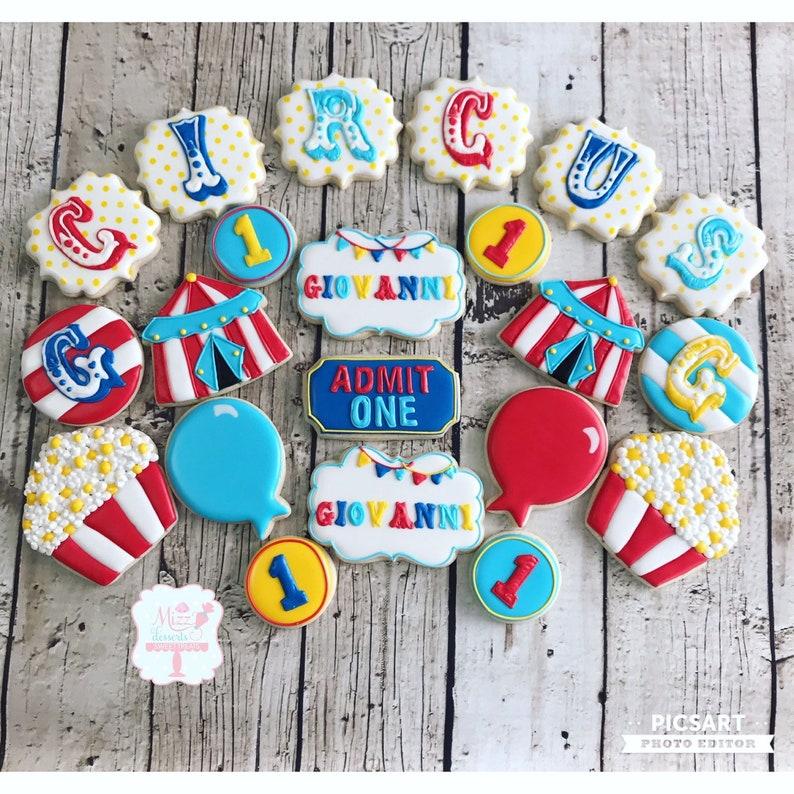 Circus/Carnival Sugar Cookies image 0