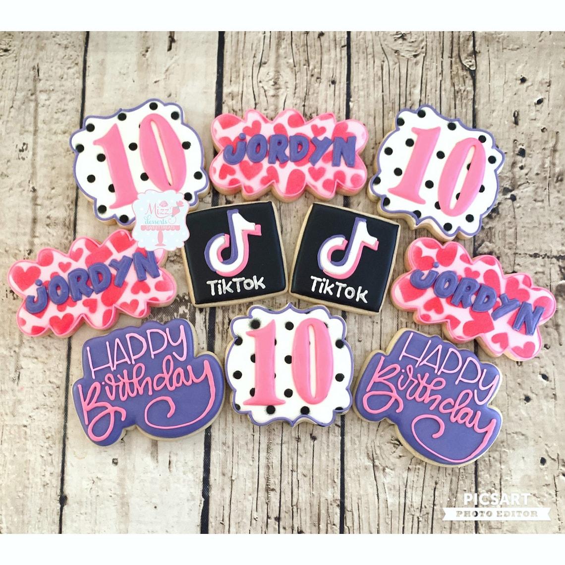 Tik Tok Birthday Cookies image 0