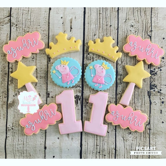 Peppa Pig Sugar Cookies Peppa Pig Party Etsy