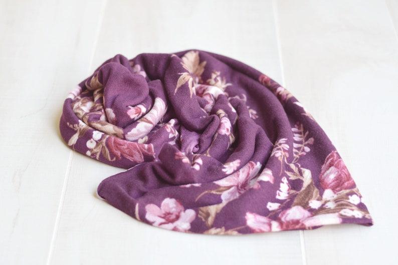Plum Mauve Floral Wrap Layer Photography Prop Wraps Newborn image 0