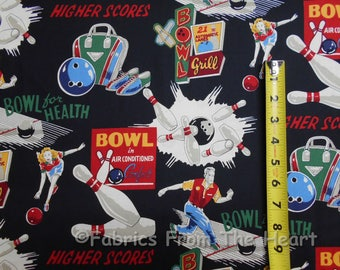 Alexander Henry Bowl For Health Cotton Fabric 1/2 Yard Cut New 2003 Out of Print