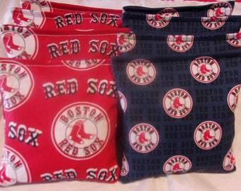 8 ACA Regulation Cornhole Bags - MLB Boston Red Sox - 2 Different Prints