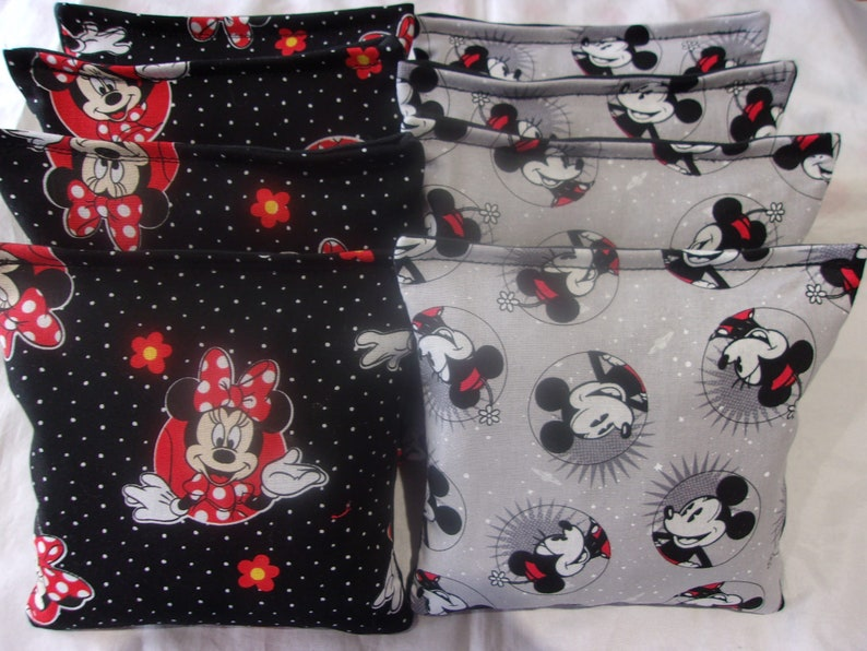 8 ACA Regulation Cornhole Bags Minnie Mouse and Mickey Mouse