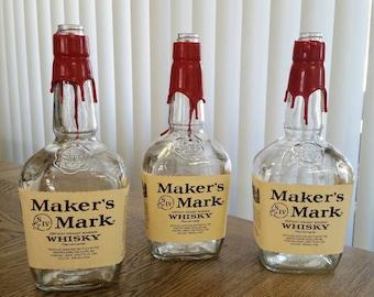 Empty Makers Mark Bottle, Liquor Bottle
