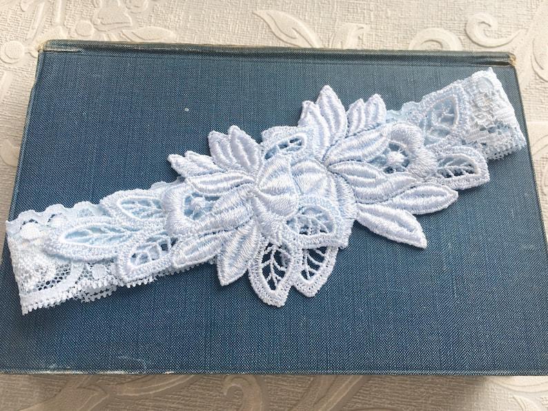 Blue Lace Wedding Garter Set Simple Lace Garters Blue Garters Bridal Garter Set Something Blue Garters Kadie Blue Garter Set