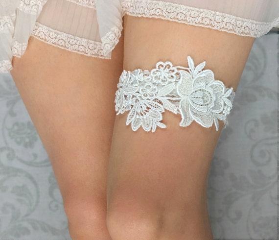 Wedding Garter Set Off White Lace Bridal Garter Wedding Garter Set Off White Tulle Bridal Garter Set Bridal Garter Belt Bridal Shower gift