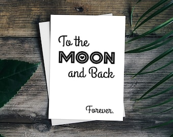 """Postcard Love """"To the Moon and Back"""""""