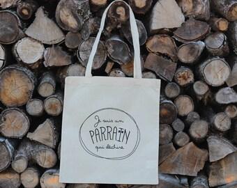 Bapteme Godfather Gift - Tote Bag I'm a RIP who rips - Trend - Godfather Gift - Christmas Gift - Reusable Cloth Bag - Cotton