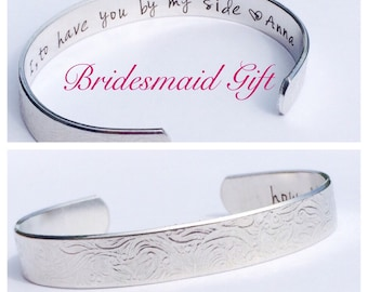 Bridesmaid gift inside secret message personalized from you