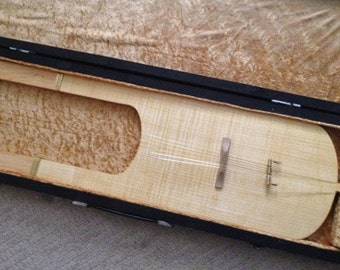 Irish Lyre,  made of maple with wire strings