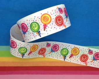 """5 Yds Candy Candies Sweets Grosgrain Ribbon 3//8/""""W"""